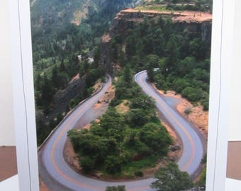 Photo Greeting Card   Handmade Card   Photo Note Card   Original Photography   Bend in Road