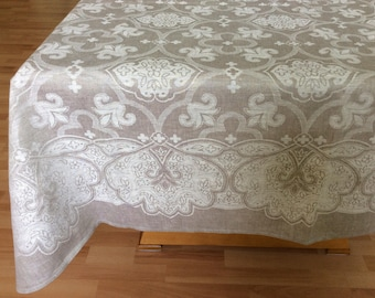 Extra long Tablecloth Custom tablecloth Wedding Tablecloth Rustic Tablecloth  Rectangle table cloth Jacquard tablecloth Linen table cover