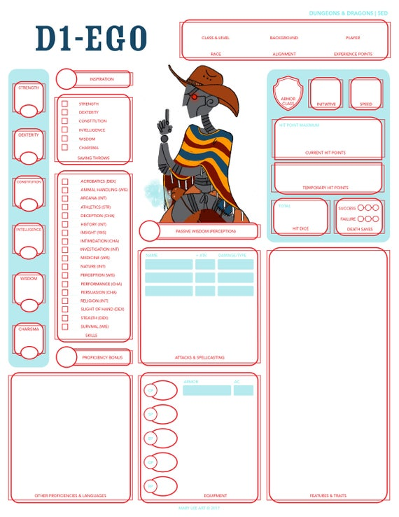 Custom Character Sheet Design : Dungeons and dragons custom character sheet