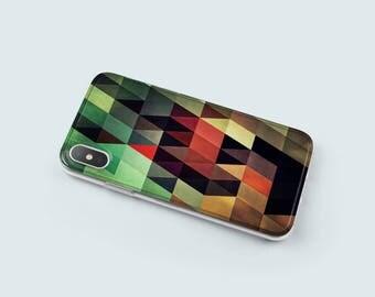 Geometric iPhone X Case Clear iPhone 6 Case iPhone 6S Cover iPhone 8 Case iPhone 6 Plus Case - KTO41