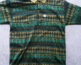 Mysterious Ferro Vintage Knit Polo - Large