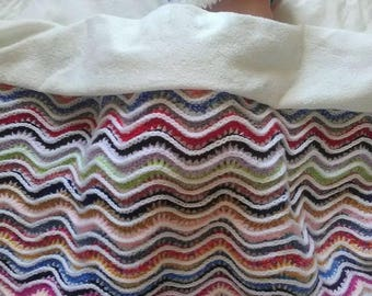 multicolored baby blanket