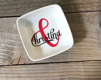 Monogrammed Jewelry Dish, Ring Dish, Personalized  Ring Dish, Gifts for friend, Jewelry Dish, Birthday Gifts, Jewelry Holder, Christmas