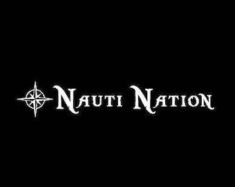 Nauti Nation Nautical Boating Decal