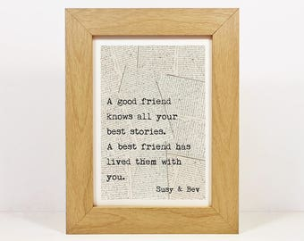 Framed Personalised Print | Best Friend Gift | Friendship Quotes | Friendship Gift | Best Friend Quotes | Friend Quotes | Best Friend Art