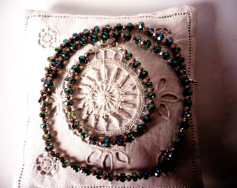 Crystal bracelet and necklace set