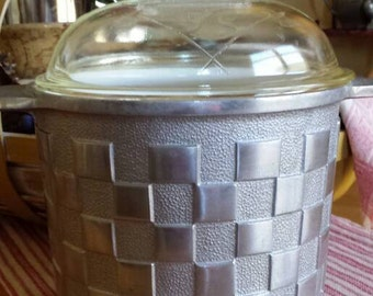 Guardian ware, aluminum woven design ice bucket.  Vintage.