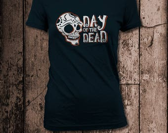 Day of the Dead skull tee | Women's tee