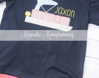 Monogrammed Pontoon Boat Shirt