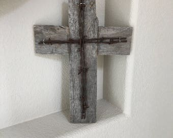 Rustic Wooden Wall Cross Decorative Cross Religious Cross Reclaimed Pallet  Wood Home Decor Wall Cross