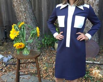 Vintage 1970s // Vintage Dress // International Ladies Garments Workers Union