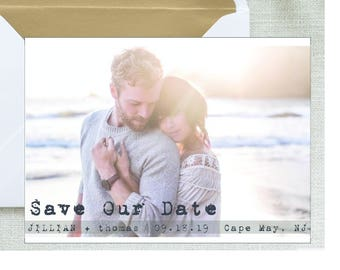 Save-the-Date-Printable Photo postcard Invitations-5x7 Digital File- photo save the date Card-Photo Card-Announcement Invites