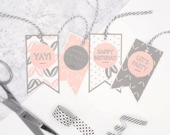 Birthday Gift Tags // Gift Wrap Tags // Tags with Ribbon