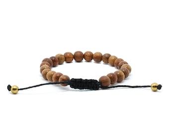 Bayong Wood Bracelet - Hemp Bracelet, Nature Jewellery, Vegan Bracelet, Gifts for Him, Gifts for Her, Wood Beaded Bracelet, Natural Wood