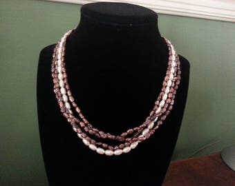Vintage Freshwater Pearls - Four Strands