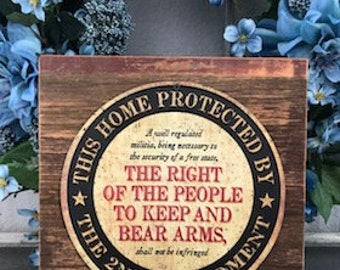 Home Protection Sign