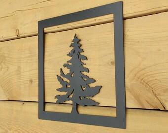 Metal Tree Art, Wall Art, Decoration, Rustic, Silouhette, Tree