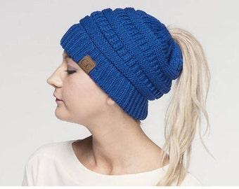 Pony Tail. Hat Monogram  Beanie Taill, Pom Hat, Beanie Hat, Women's Accessories, Fall Fashion, Winter Apparel, Custom Accessories
