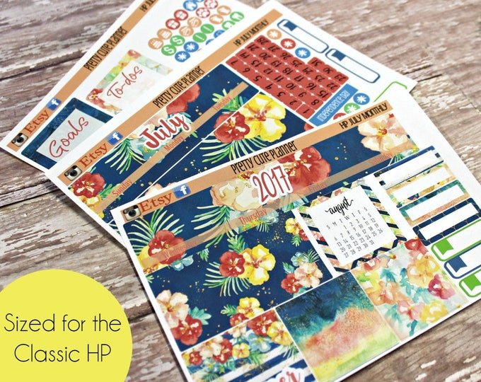 Happy Planner July Monthly - Planner Stickers - Happy Planner Stickers - July Planner stickers - Monthly Planner stickers - Monthly View