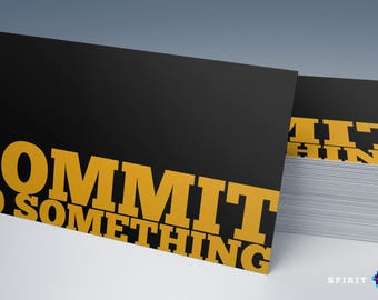 Commit to Something personal trainer business card design + Printing (optional) + FREE USA SHIPPING