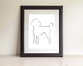 Poodle Art, Poodle Painting, Poodle Picture, Dog Print, Gifts for Dog Lovers, Dog Art, Dog Wall Art, Animal Lover Presents