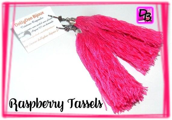Boucles d'oreilles [Raspberry Tassels]