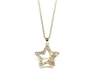 Long Necklace with Stunning Pendants - Star, heart and butterfly variations. Free luxurious gift box - Handmade jewellery - women's gifts