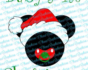 Super Cute Mickey Inspired Baby's 1st Christmas SVG