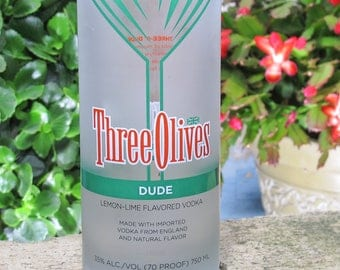 fun centerpiece vase Three Olives Vintage Dude Vodka housewarming gift idea xmas present idea fun valentines unusual valentines present idea