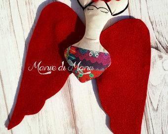 Frida Kahlo doll - Angel wings Frida - Angel Frida- Frida Kahlo- Frida doll gift idea