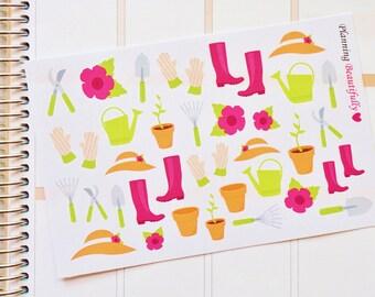 Garden Supplies Stickers, Garden Planner Stickers, Garden Stickers, Garden Stickers for Eclp, Garden Supplies Planner Stickers