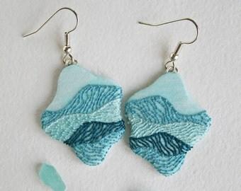Sea earrings Blue drop earrings Turquoise colored earrings Bright blue earrings Mermaid earrings Sea blue earrings Women blue earrings