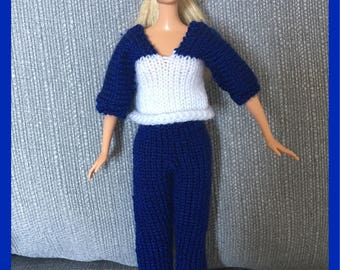 Barbie dolls top and trousers design (77)