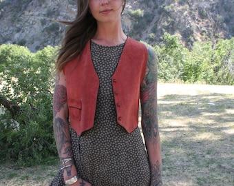 Vintage Pink Suede Vest