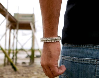 Macrame bracelet, Rope Bracelet, Mens bracelet, Nautical bracelet, Men gift, Hemp bracelet, Men jewelry, Sailor bracelet, Bracelet for mens