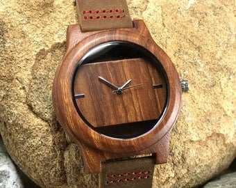 personalized engraved mens wooden watch, wood watch, groomsmen gifts, christmas gift, fathers day gift, wooden watch, men's gift, mens watch