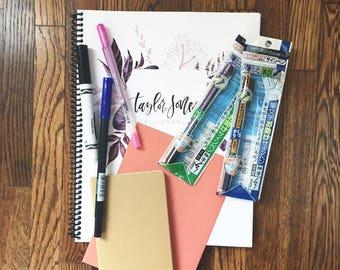 Calligraphy Kit / Hand Lettering Kit / Calligraphy Practice Sheets / Calligraphy / Calligraphy Workbook / Calligraphy Starter Kit
