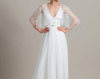Lace wedding dress, Romantic wedding dress, Simle wedding dress, Wedding gown, Couture gown, Greek wedding dress