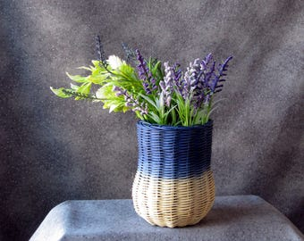 Blue Ombre Vase Basket