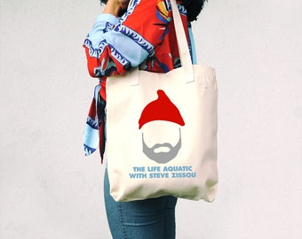 The Life Aquatic with Steve Zissou Tote Bag - Wes Anderson - Funny Tote Bag - Movie Canvas Bag - Bill Murray - Gift for cinephile - Director