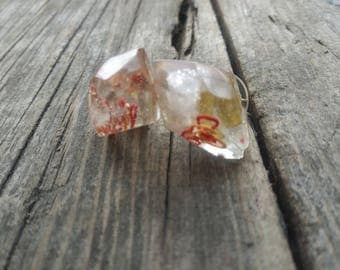 Fire Citrine Orgonite Earrings