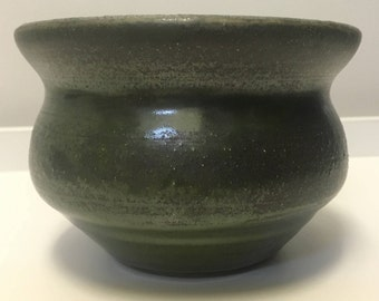 Metallic Forest Green Vase