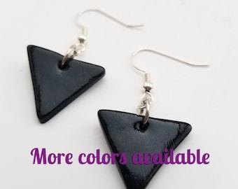Triangle Earrings - Clay Dangle Earrings - Polymer Clay Jewelry - Cute Clay Earrings - Triangle Jewelry - Polymer Earrings