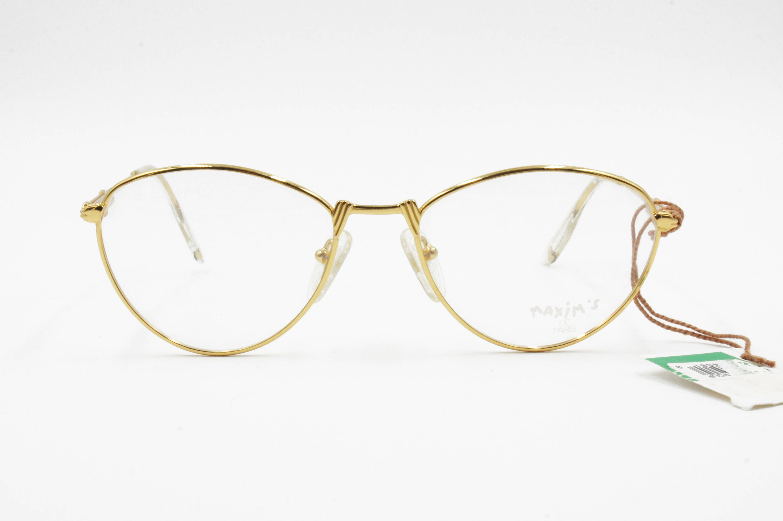 214896084b5 Etoile golden vintage oval frame eyeglasses womens ladies
