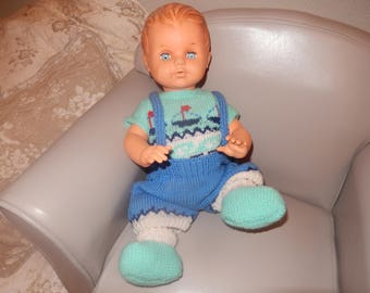doll, doll little colin vintage french 40cm