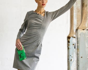 Frieda Dress Grey