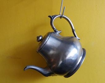 Victorian teapot * antique teapot * pewter teapot * James Dixon and Sons Sheffield * Sheffield pewter * collectible * vintage teapot *