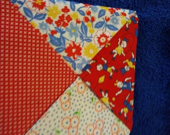 Set of 4 quilted coasters 1930's prints