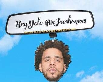 J Cole Inspired Air Freshener - J Cole Car Freshener - Car Accessory - Hip Hop Heads