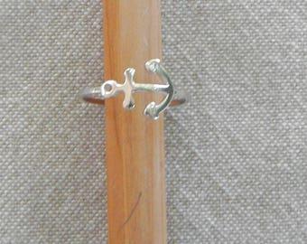 "Silver ring ""Anchor"""